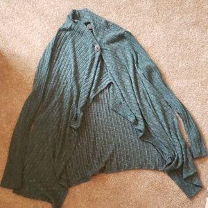 Women's Bobeau Long Sleeve Soft Wrap Sweater XL
